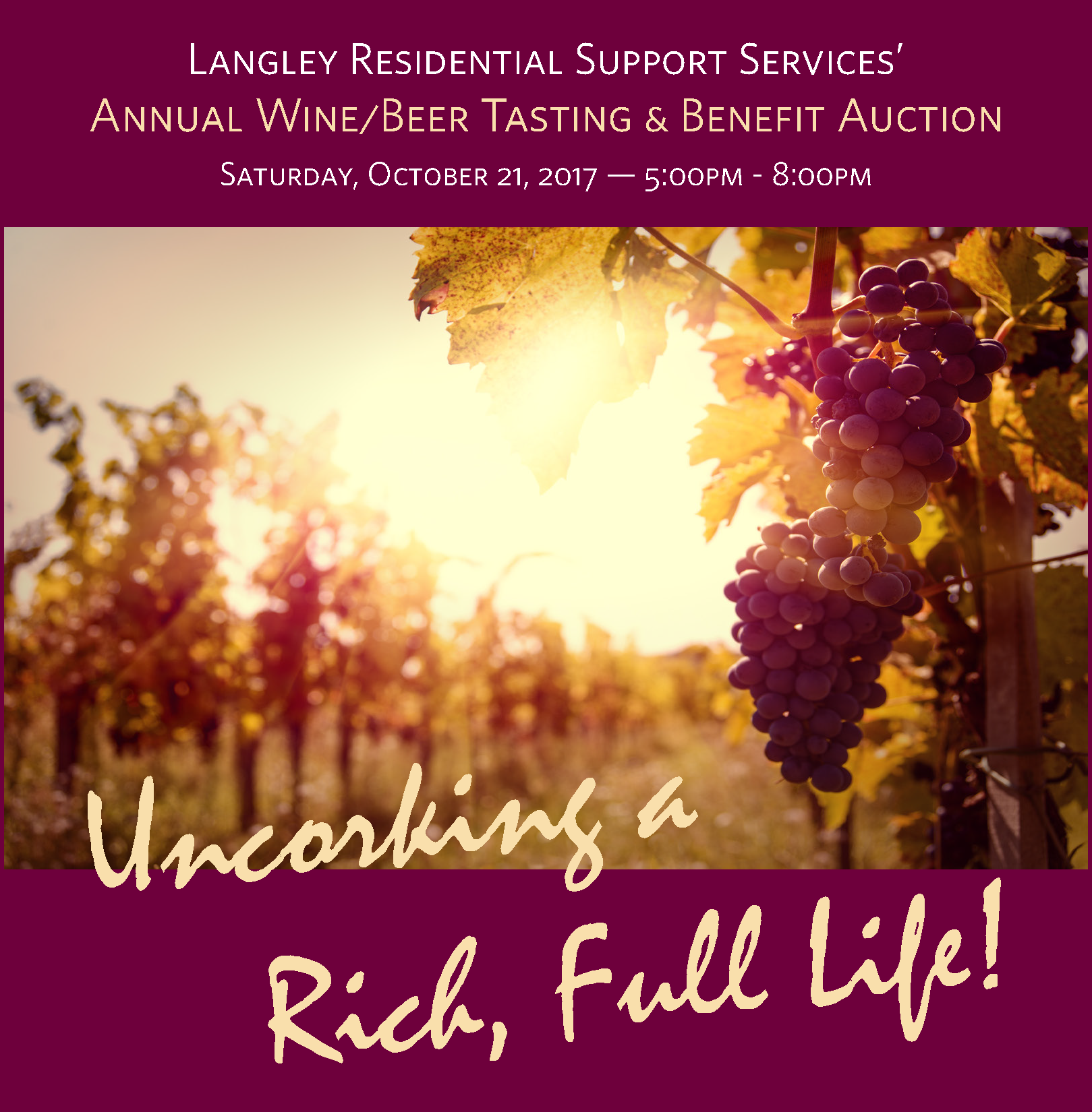 Annual Fall Wine/Beer Tasting & Benefit Auction
