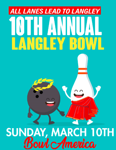 Ancient Rome Langley Bowl Sunday, March 10th, 2019 Bowl America Shirley 6450 Edsall Road Alexandria, VA 22312 2pm-4pm Registration opens at 1:30pm $30/player $150/Team of 5 Bowling fee includes 3 games with strikes in frames 3, 6 & 9, shoe rental & event tee-shirt. To register email Angela@LRSS.org or call 703-893-0068 ext. 1800. Great for Team Building! Family Fun!